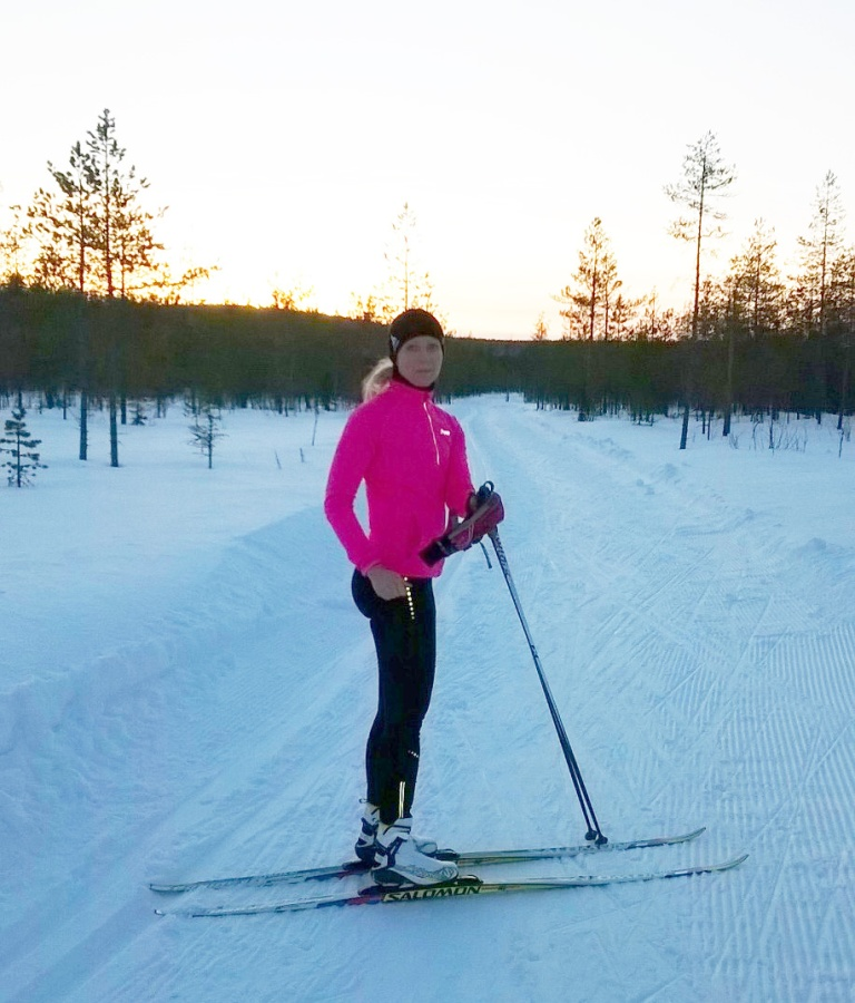 Takaisin Rovaniemellä - upea hiihto-olosuhde!