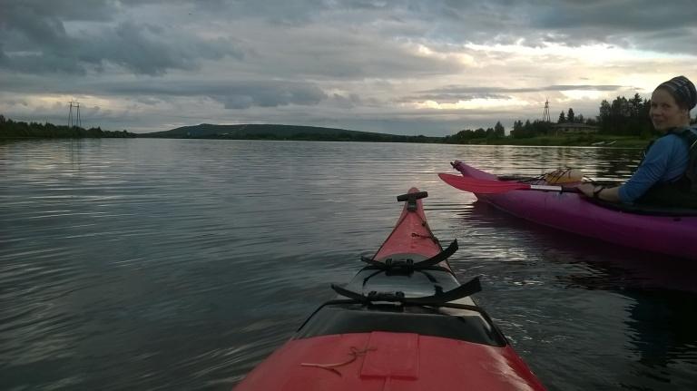 Ounasjoki on iltasella rauhan tyyssija.