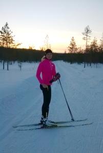Hiihtäminen on niin pitkään Rovaniemellä niin helppoa, että sitä tuli tehtyä vähän mmuiden lajien kustannuksellakin. Lyhyen melontakauden korvaajana parasta on kuitenkin hiihto.