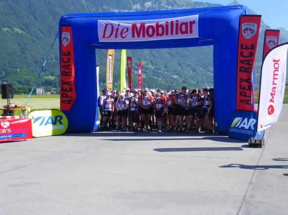 Apex-kilpailun lähtö Sveitsissä vuonna 2011.